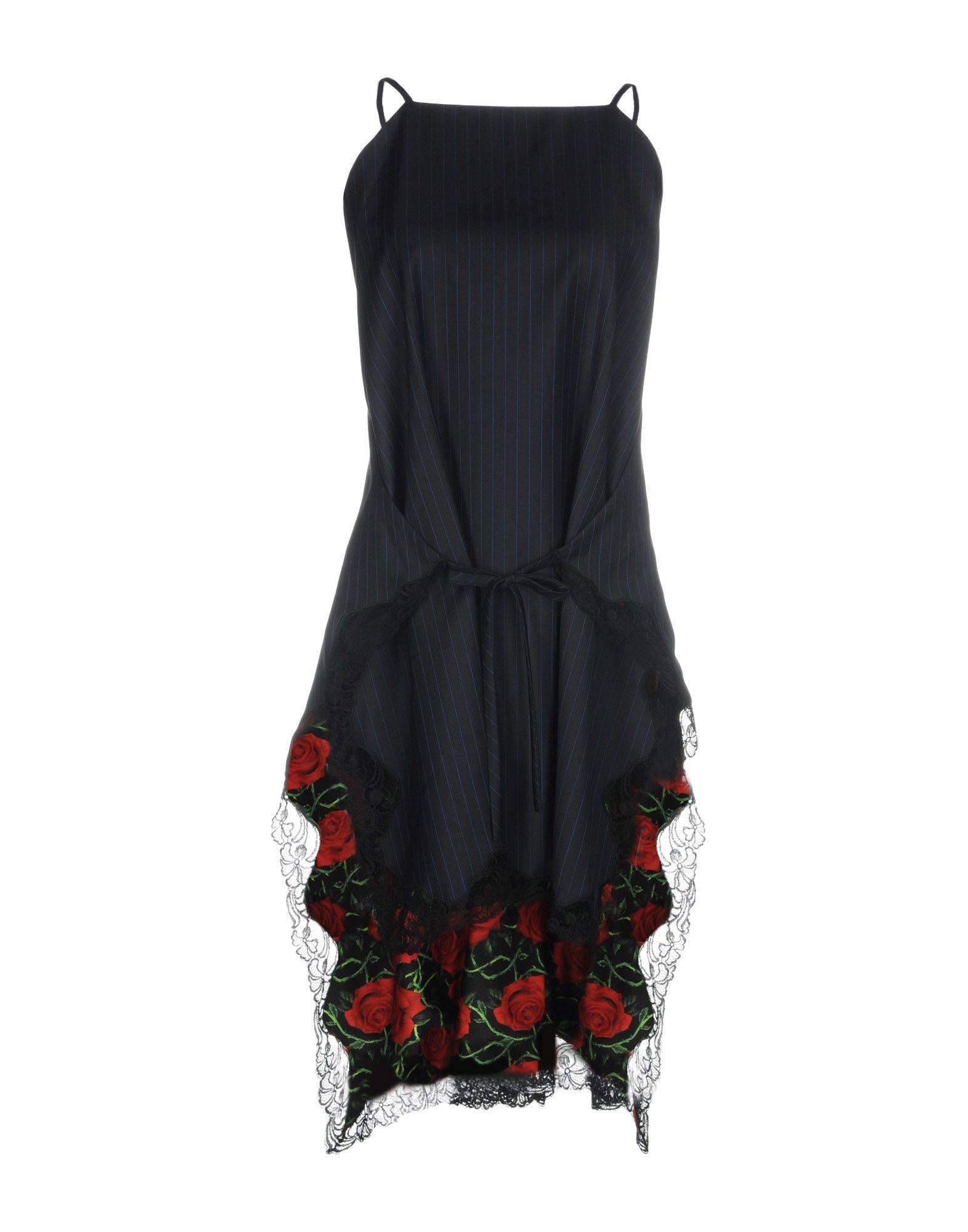 ALEXANDER WANG Короткое платье платье без рукавов с кружевной вставкой на спинке