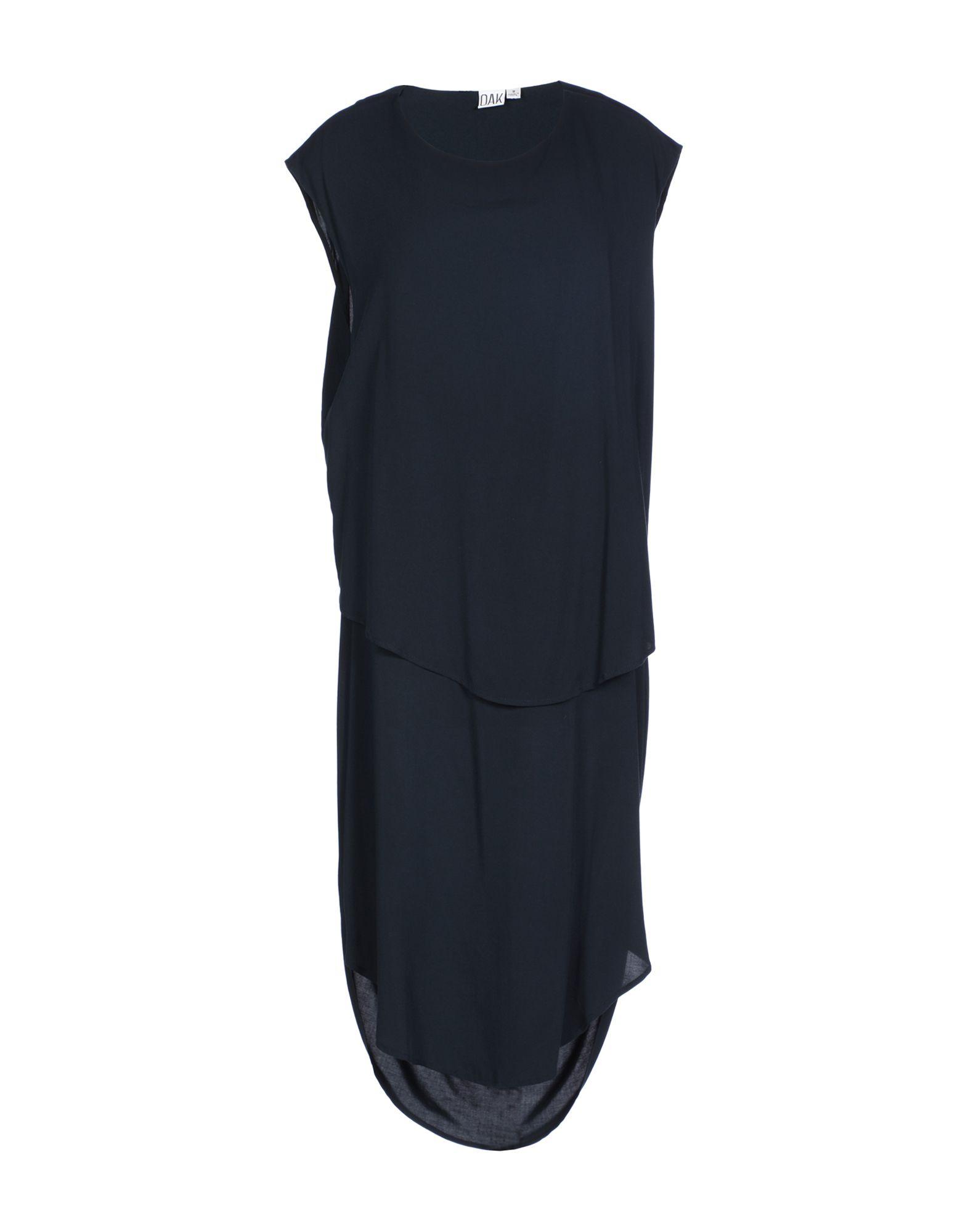 OAK Knee-Length Dress in Dark Blue