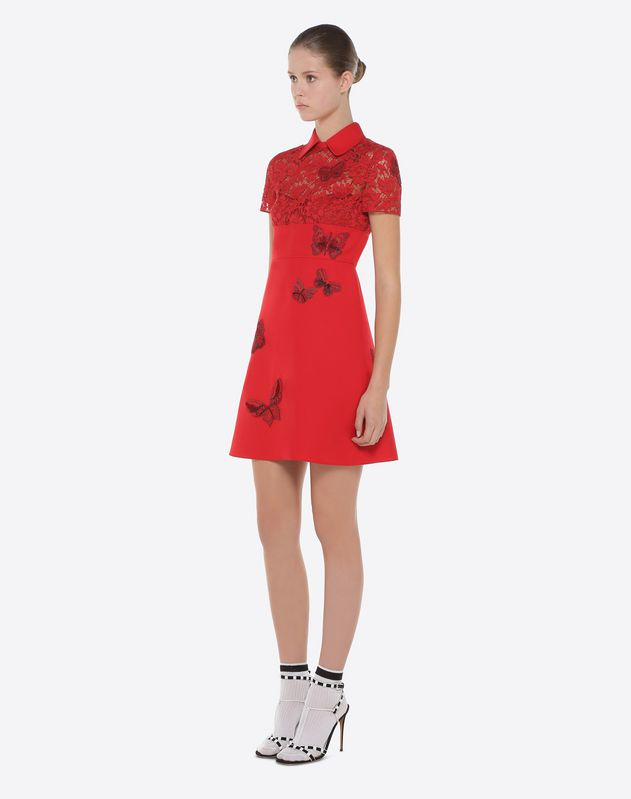Dress with embroidered butterflies