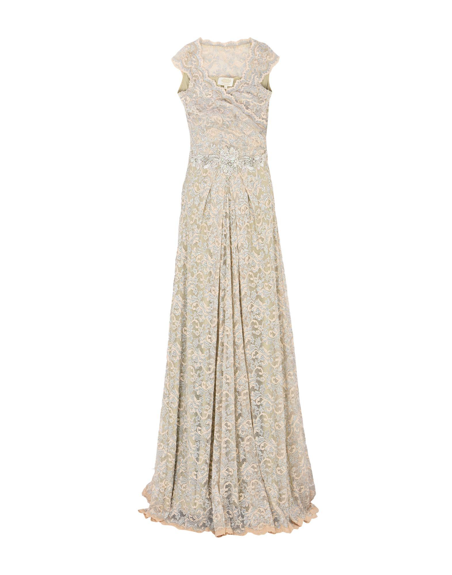 OLVI S Long Dress in Ivory