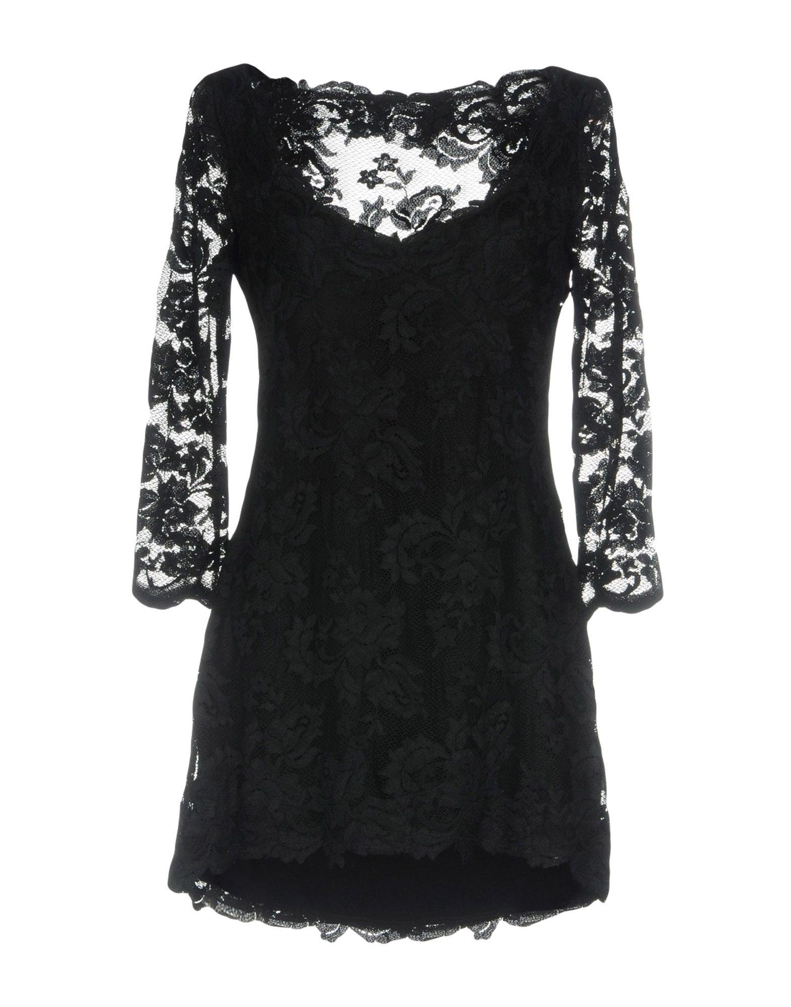 OLVI S Short Dress in Black