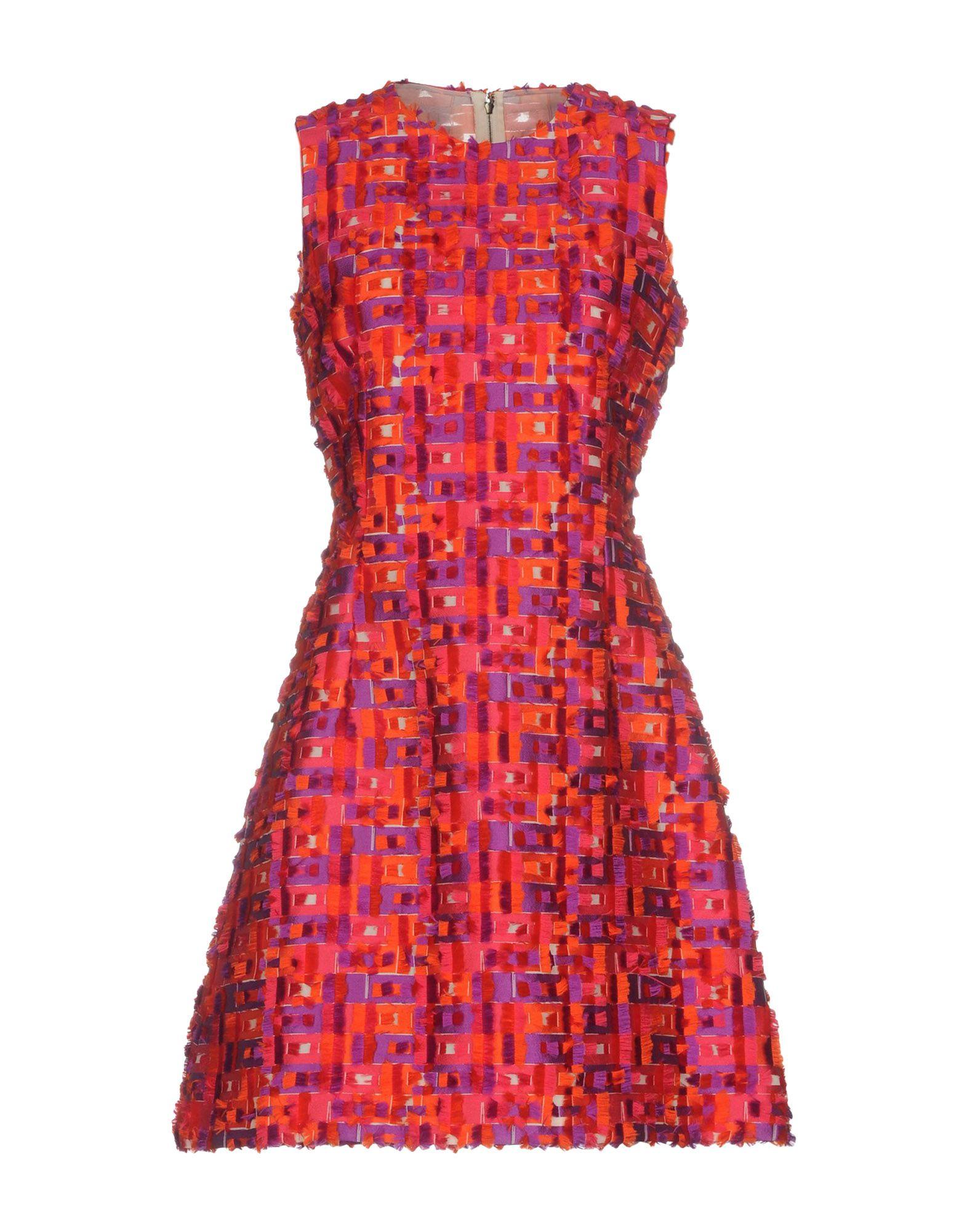 《セール開催中》DOLCE & GABBANA レディース ミニワンピース&ドレス パープル 36 ポリエステル