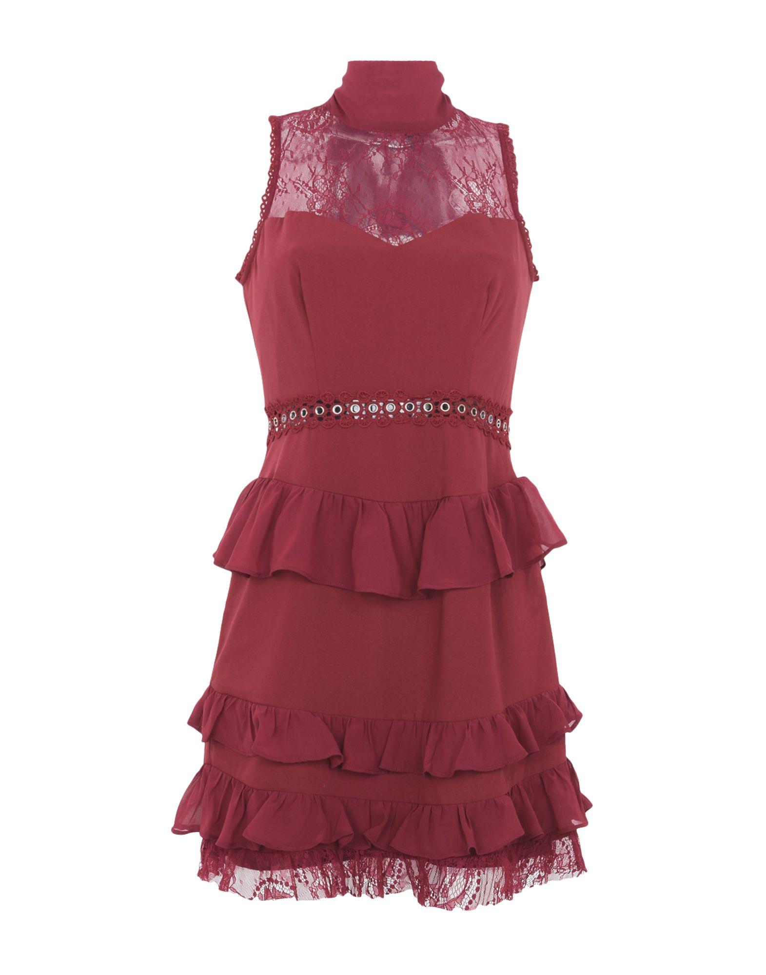 TD TRUE DECADENCE Короткое платье платье без рукавов с кружевной вставкой на спинке