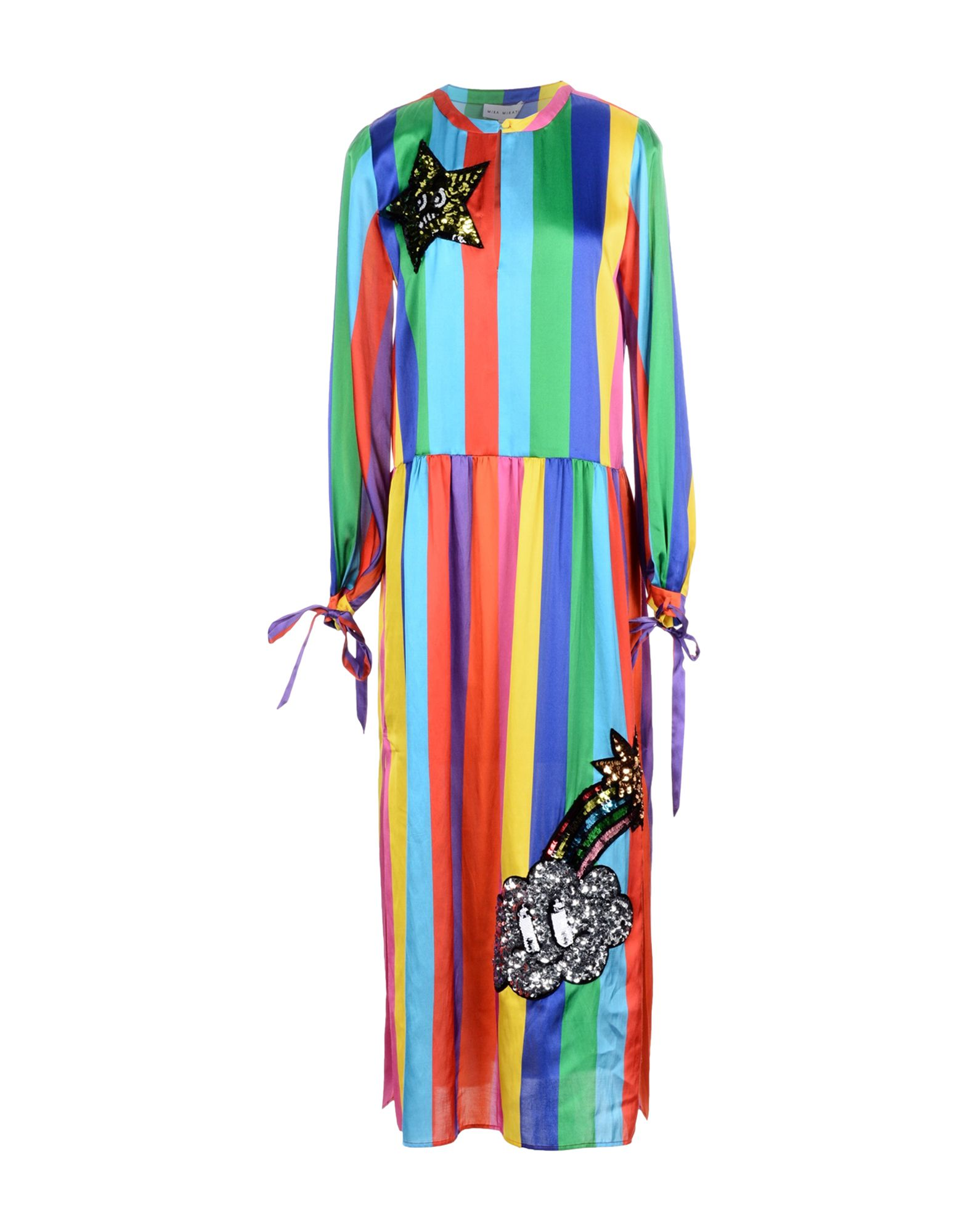 MIRA MIKATI Платье длиной 3/4 mira mikati хлопковая рубашка с вышивкой на спине