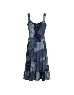 3/4 Length Dresses in Blue