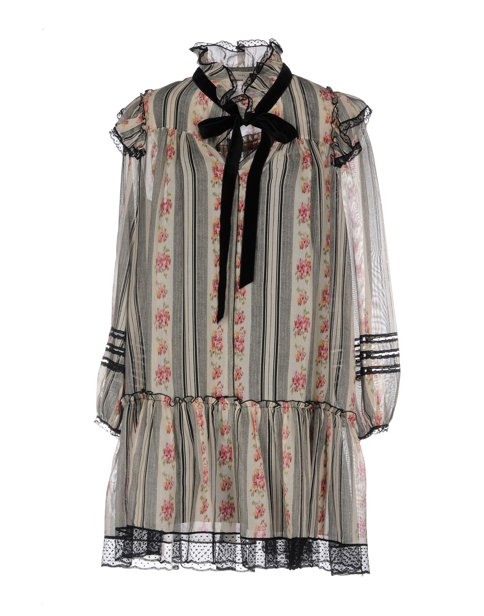 MARC JACOBS Короткое платье marc jacobs платье с воланом