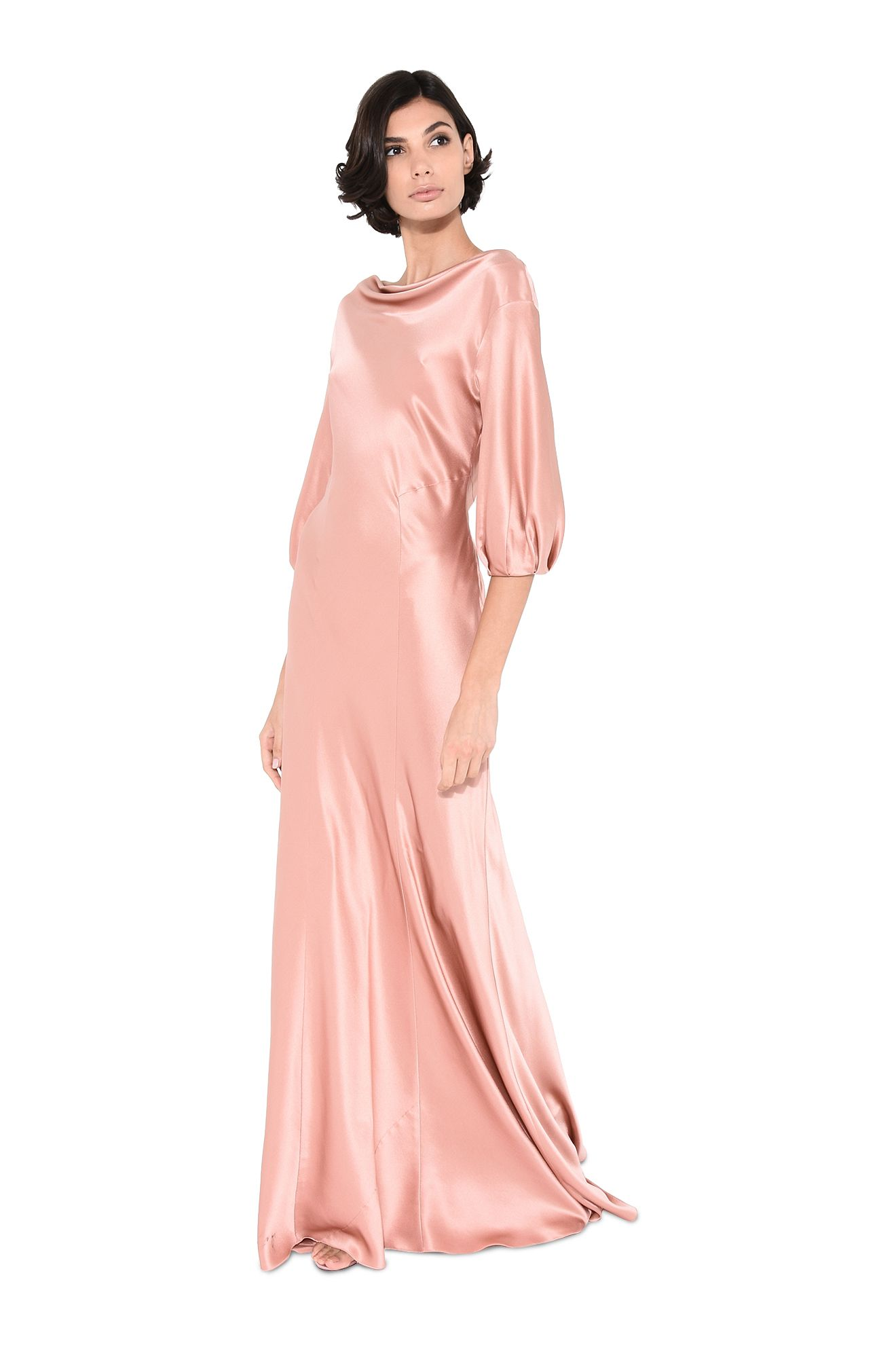 Dress with draped neck