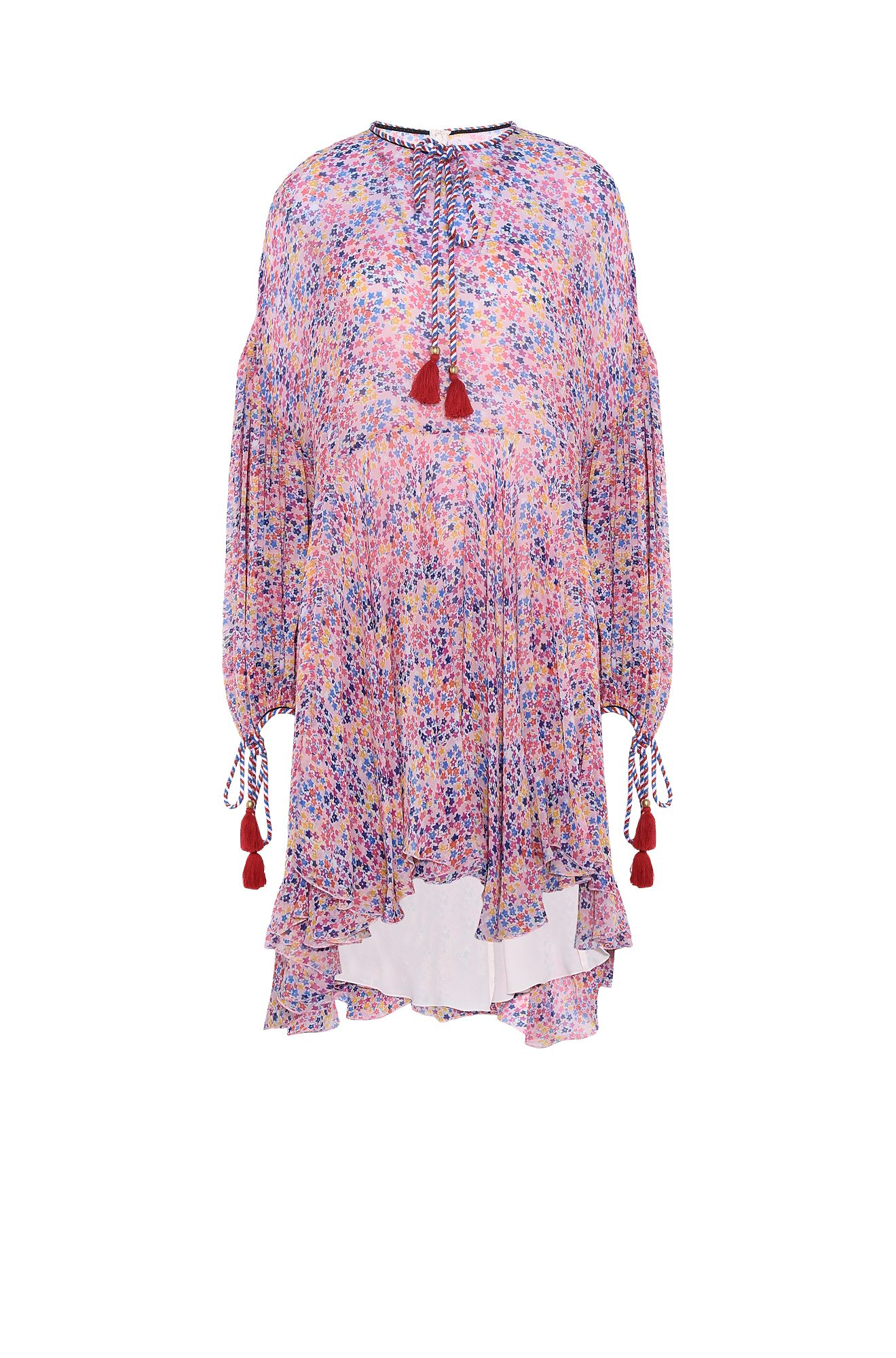 Mini Kaftan with microflowers print