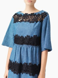 Lace-trim dress