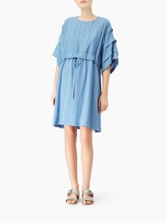 Robe en voile de coton texturé