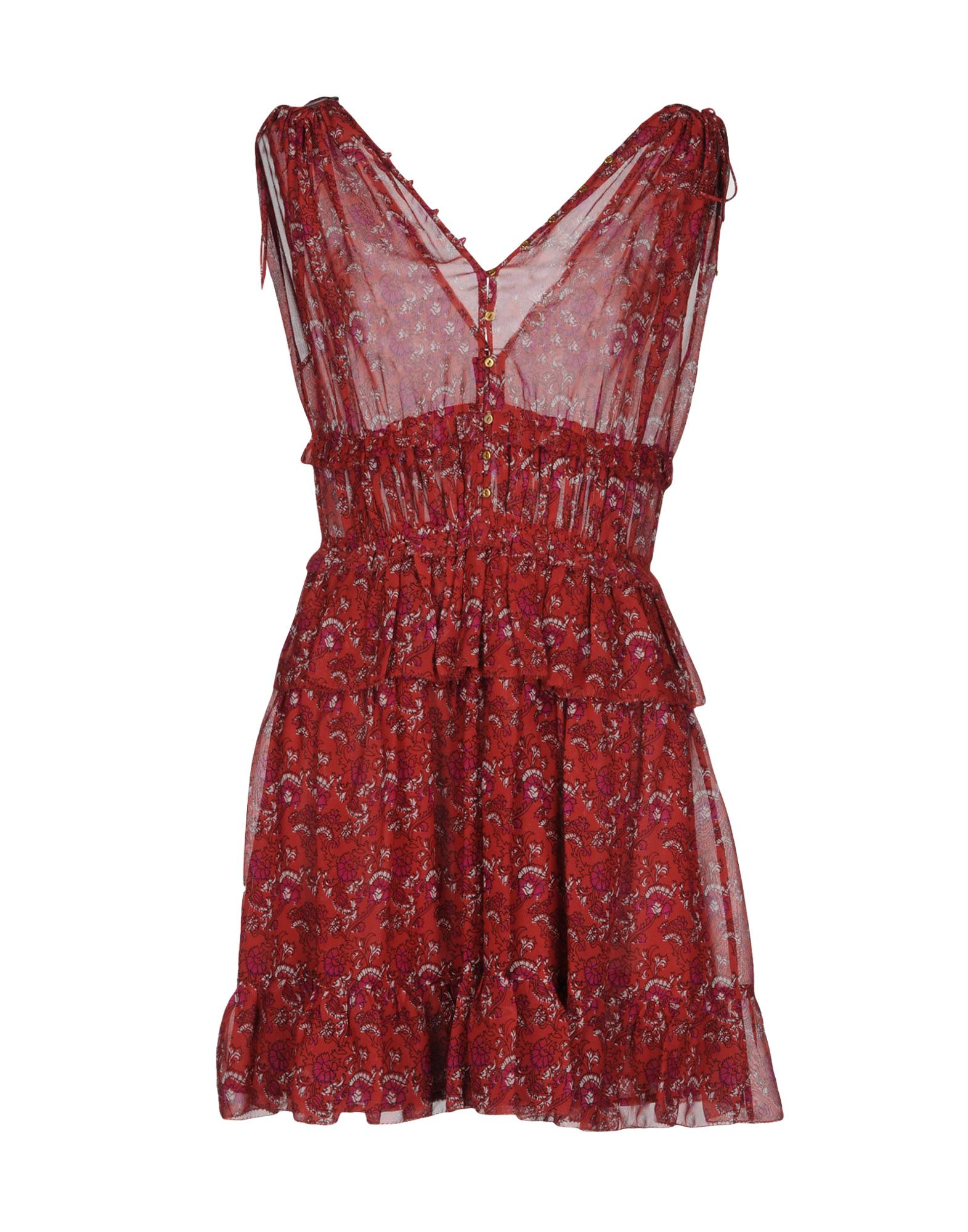 цена ULLA JOHNSON Короткое платье онлайн в 2017 году