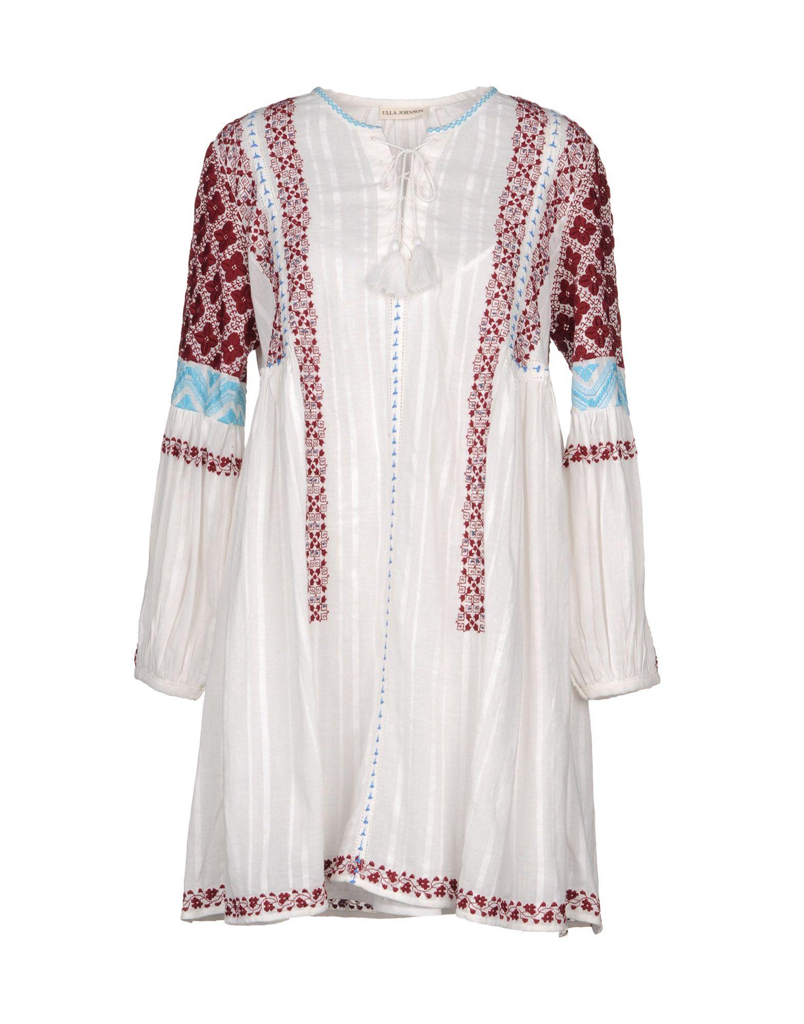 ULLA JOHNSON Короткое платье блуза ulla popken ulla popken ul002ewwcg26