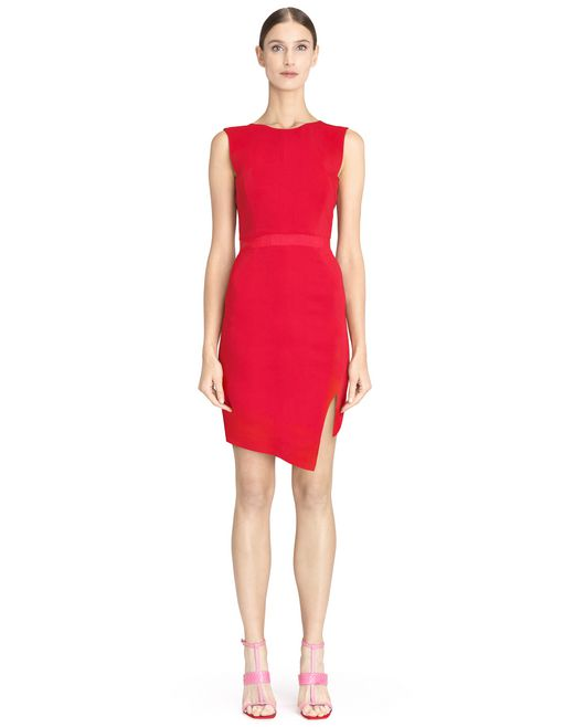 ROBE ROUGE FENDUE - Lanvin