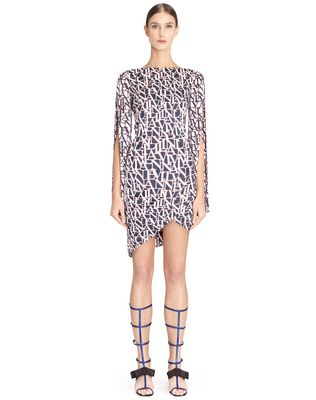 LANVIN LOGO WRAP DRESS