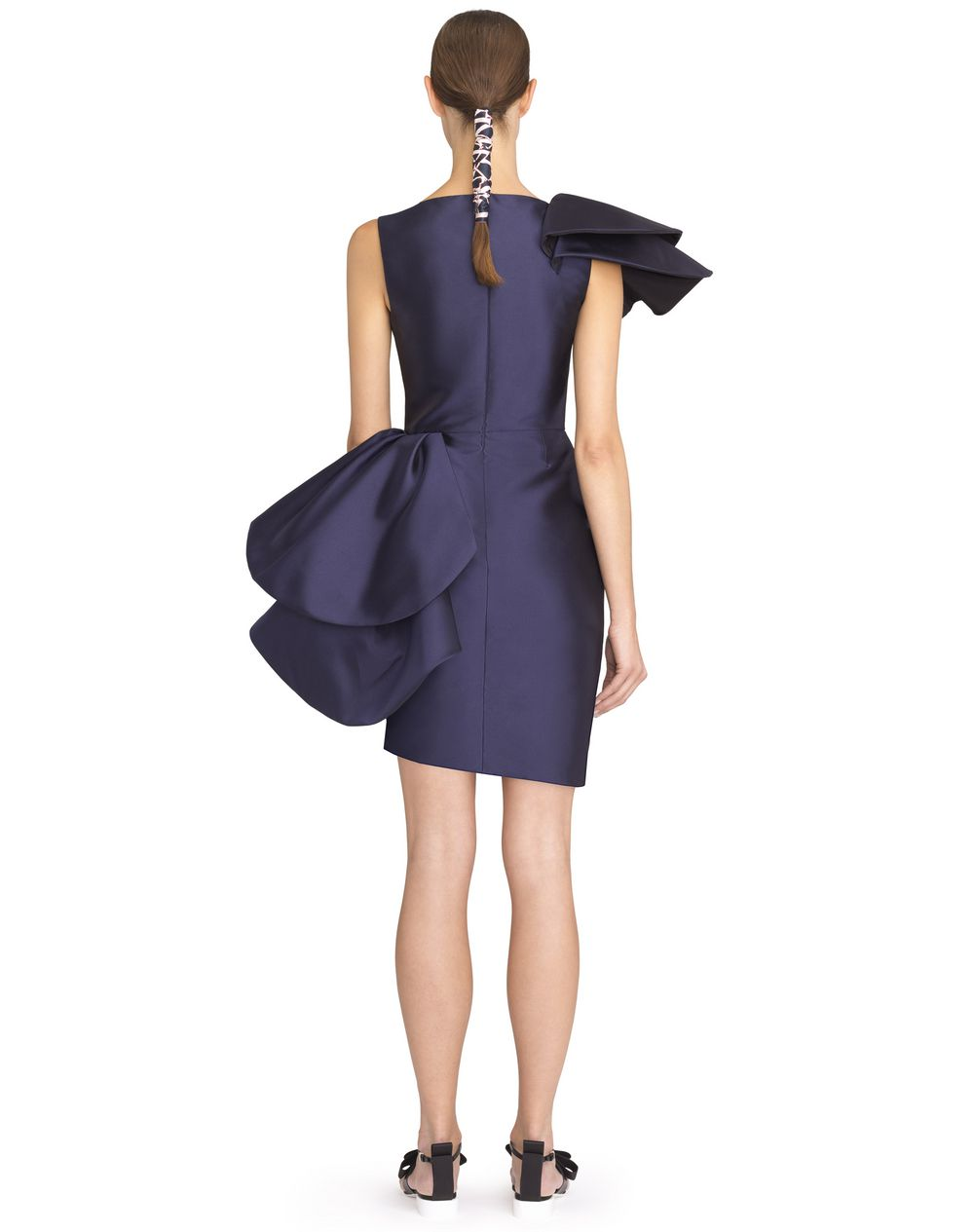 ASYMMETRICAL SILK SABLE DRESS - Lanvin