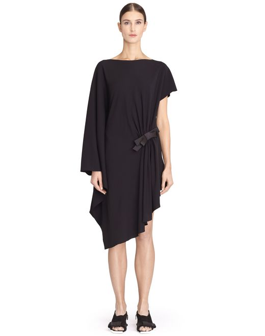 BLACK ASYMMETRICAL DRESS - Lanvin