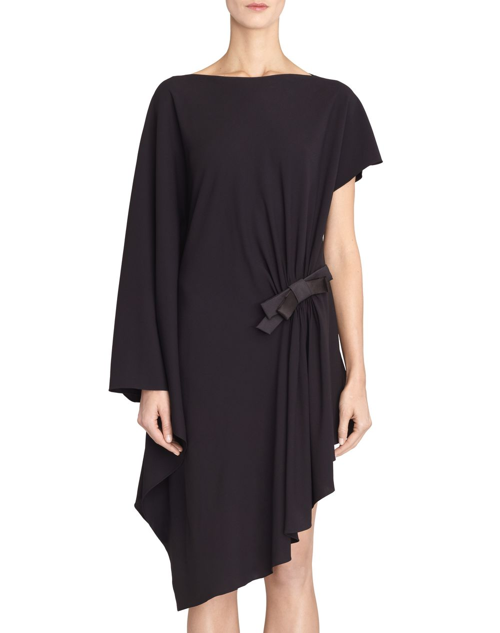 BLACK ASYMMETRICAL DRESS - Lanvin