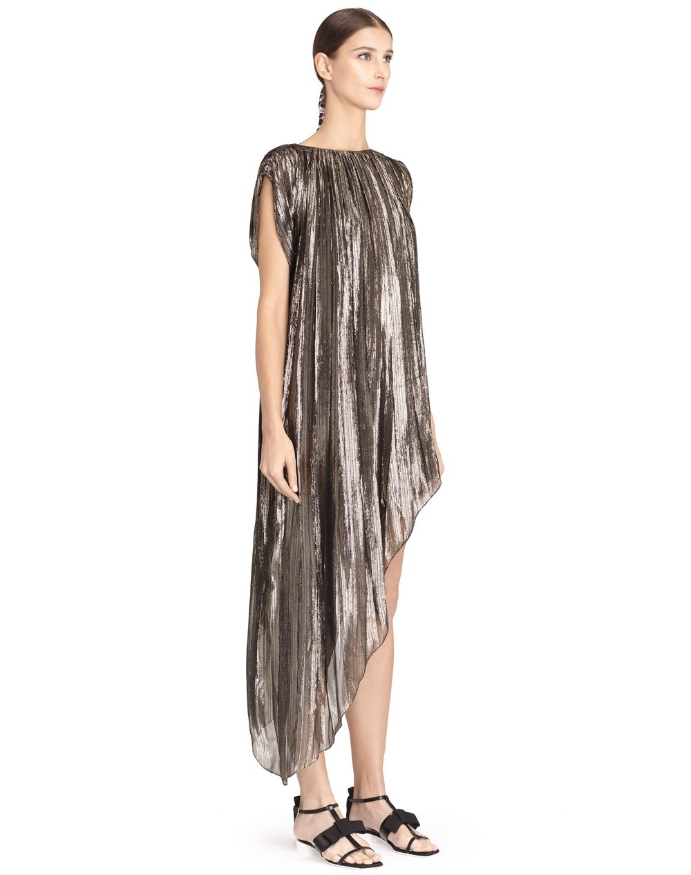 ASYMMETRICAL LAMÉ DRESS - Lanvin