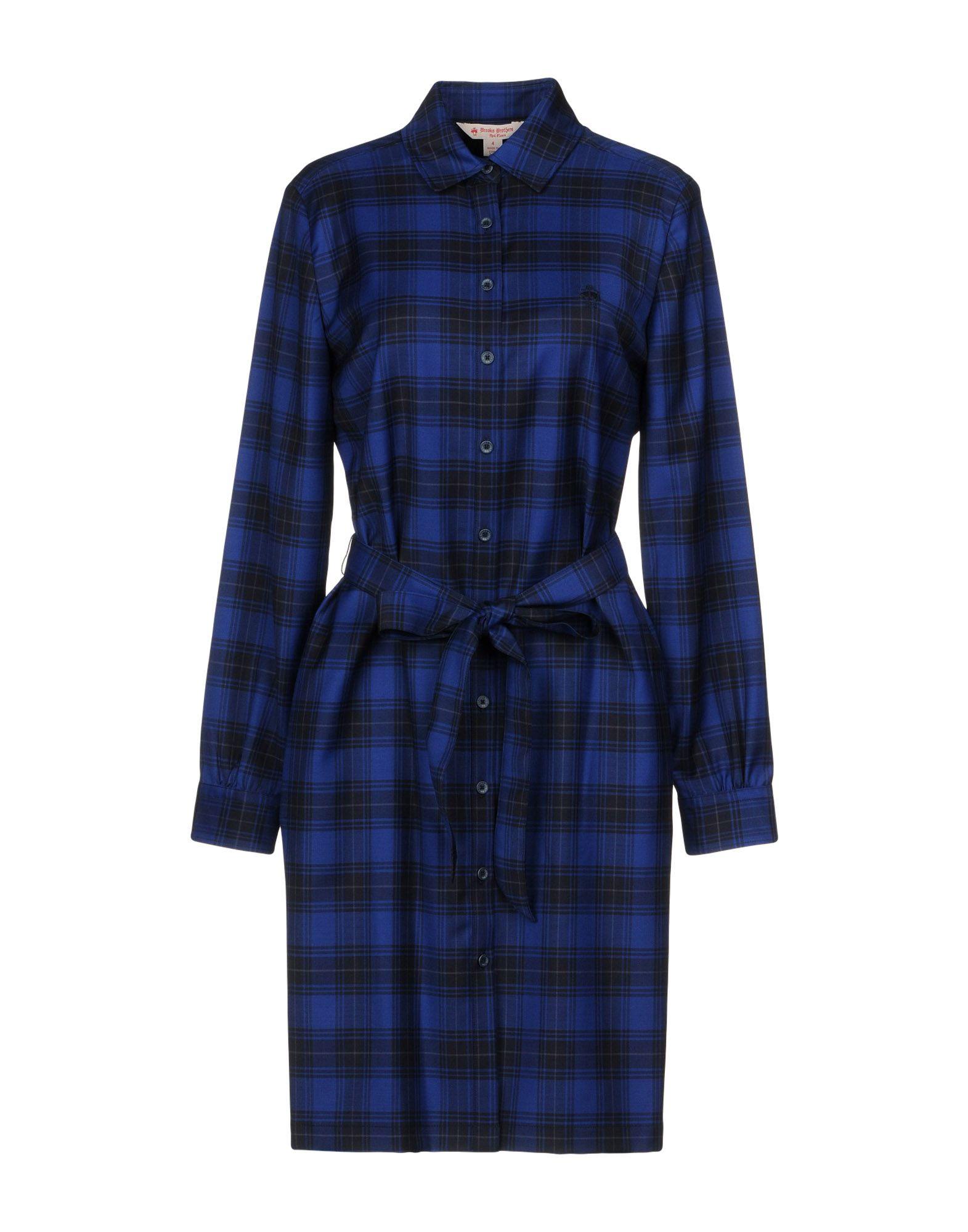цена RED FLEECE by BROOKS BROTHERS Короткое платье онлайн в 2017 году