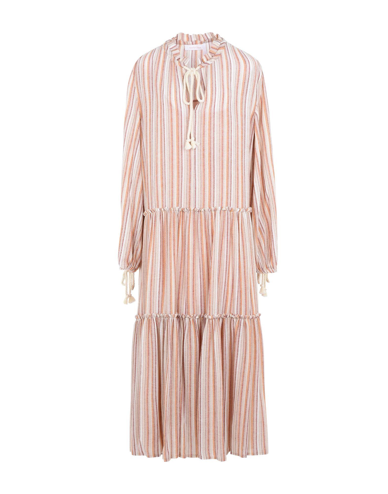 SEE BY CHLOÉ Длинное платье see by chloé комбинация