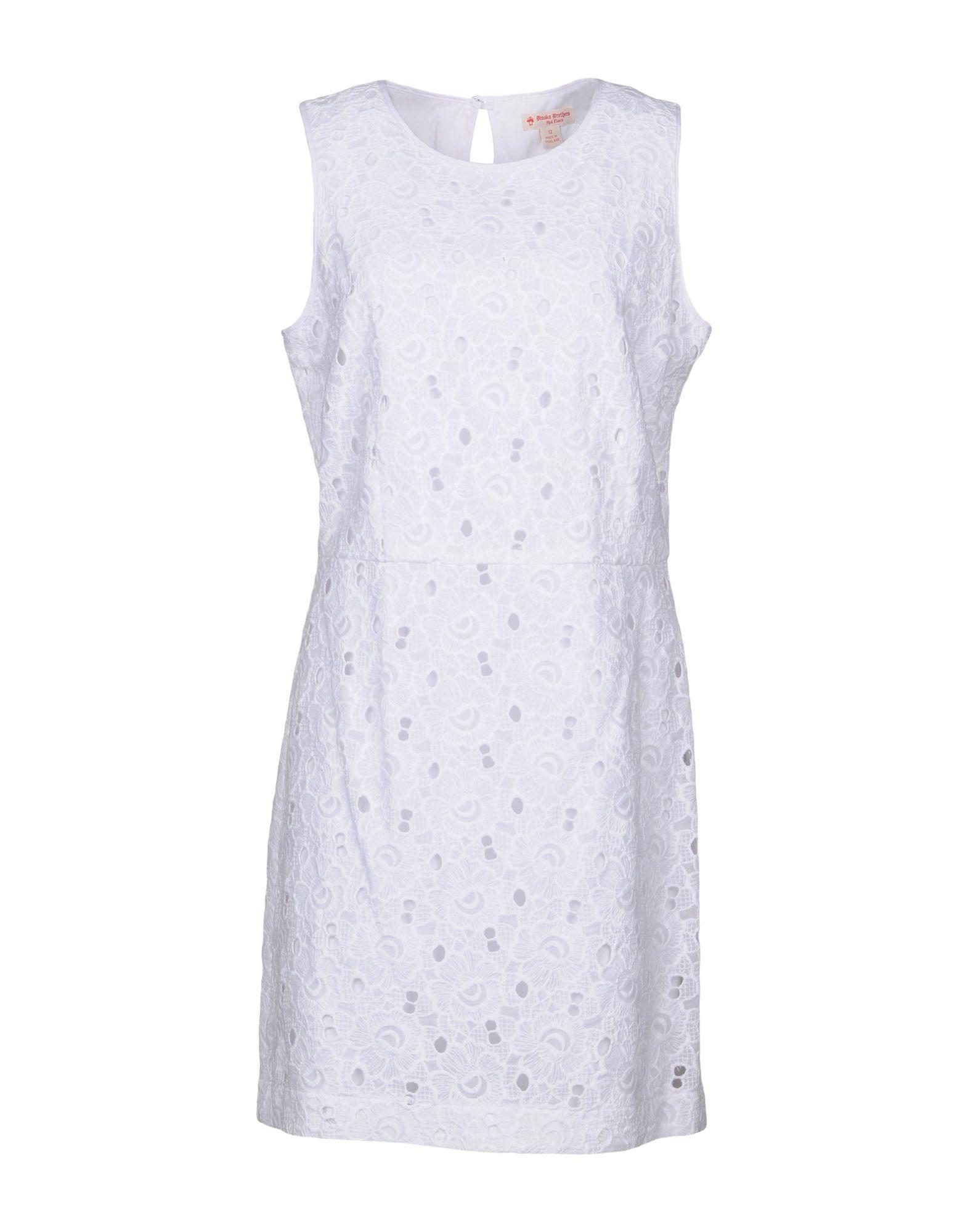 цена BROOKS BROTHERS Короткое платье онлайн в 2017 году