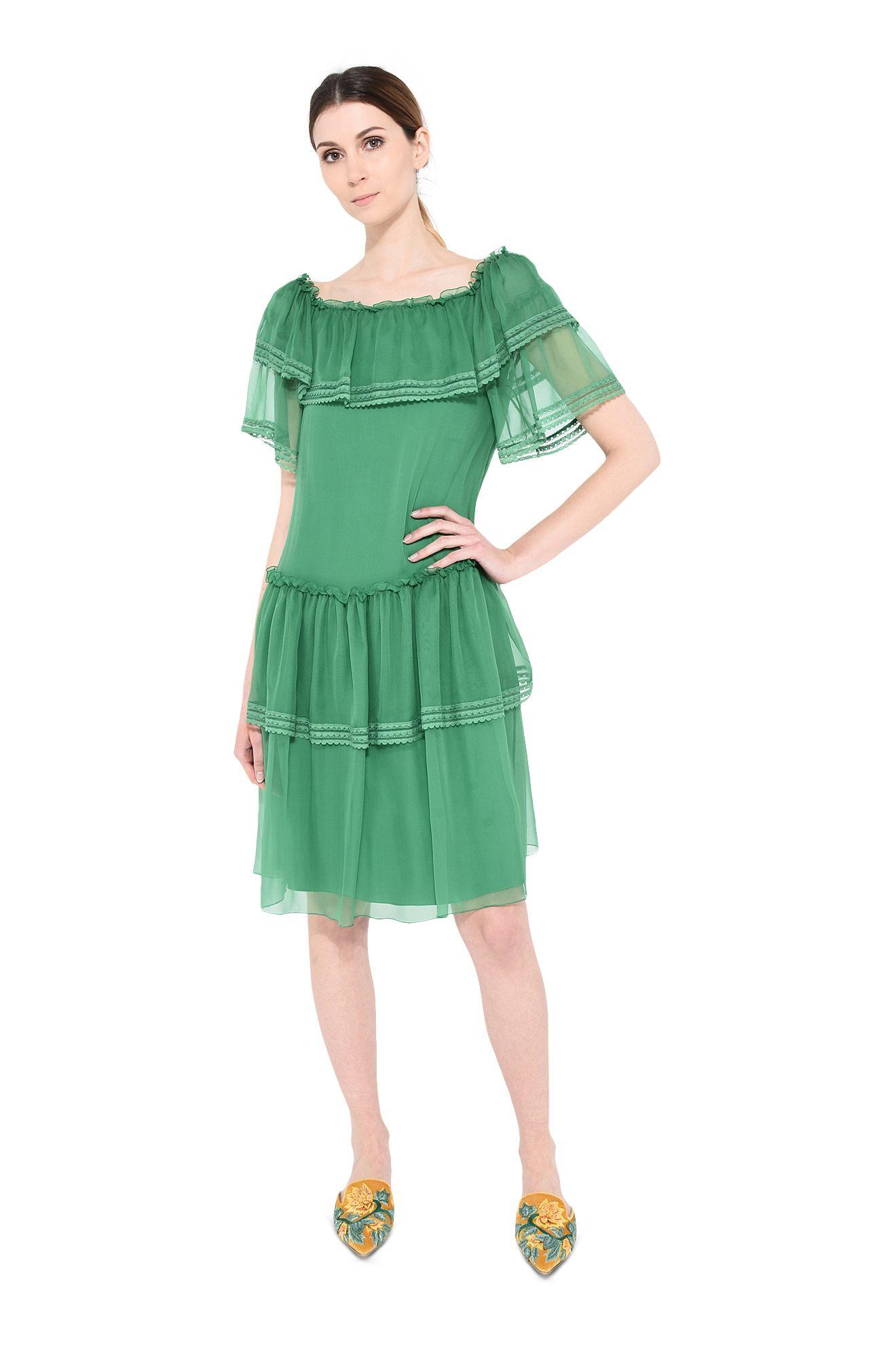 Ethno-Kleid mit Rüschen