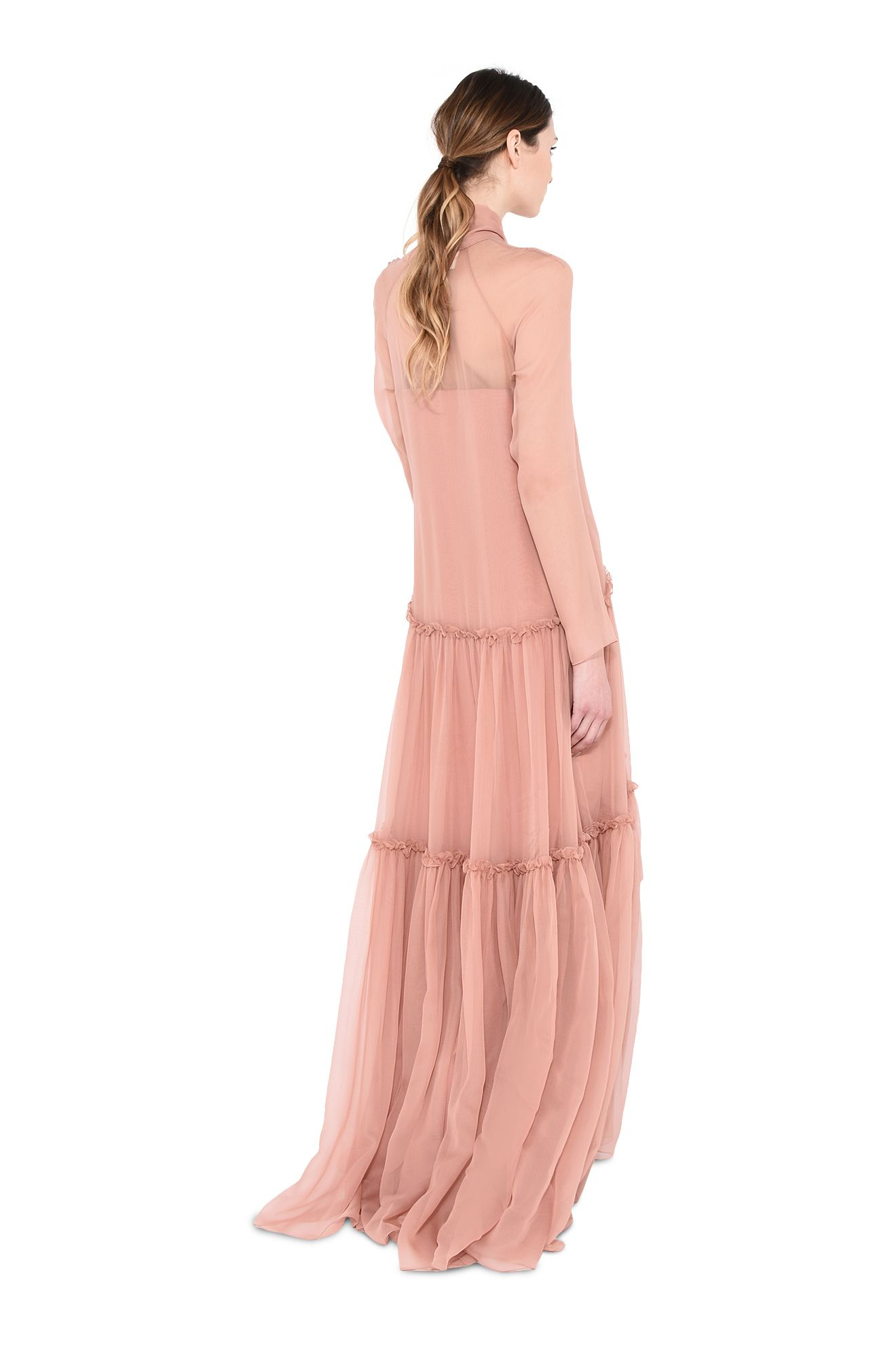 ALBERTA FERRETTI Long Dress Woman Long dress with double drawstring r