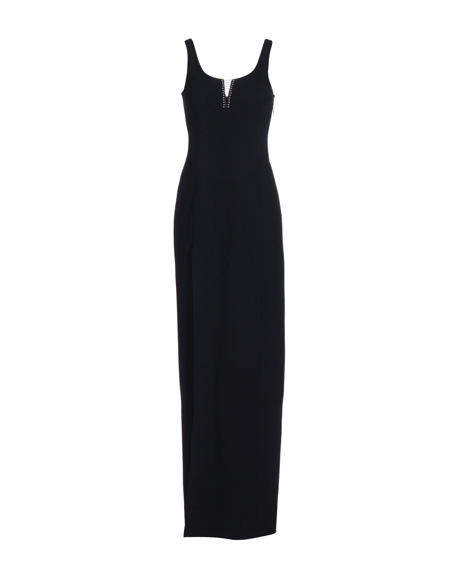 ALEXANDER WANG Длинное платье t by alexander wang черное платье с сетчатой вставкой