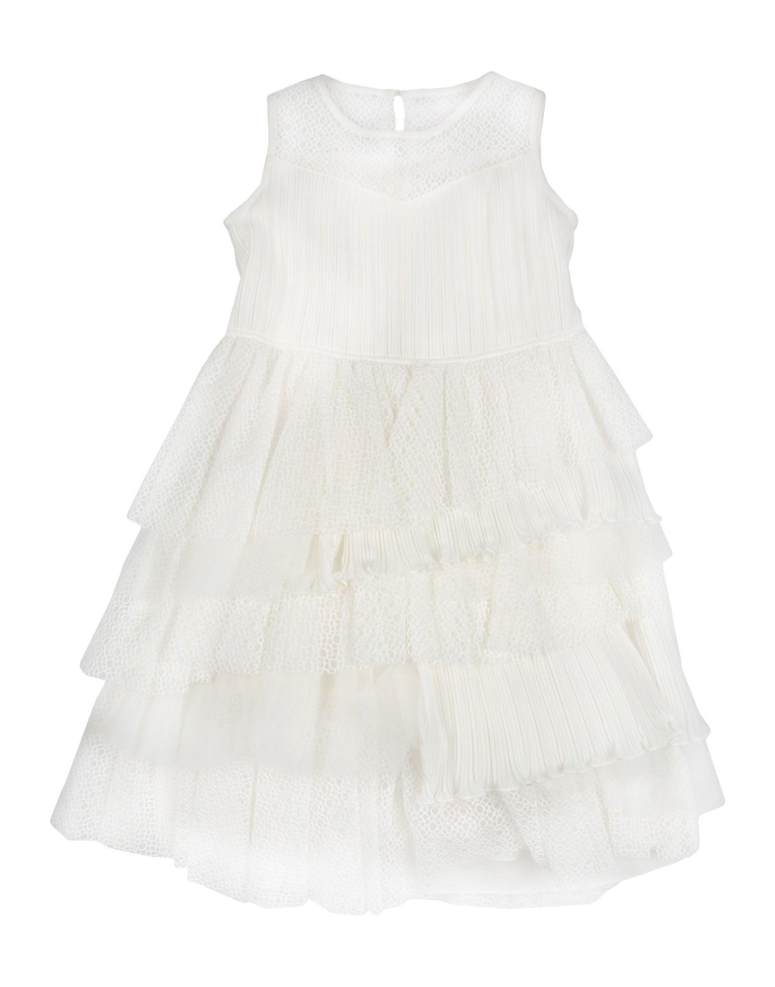 《送料無料》ALETTA ガールズ 3-8 歳 ワンピース&ドレス ホワイト 6 ナイロン 77% / ポリエステル 14% / ポリウレタン 9%