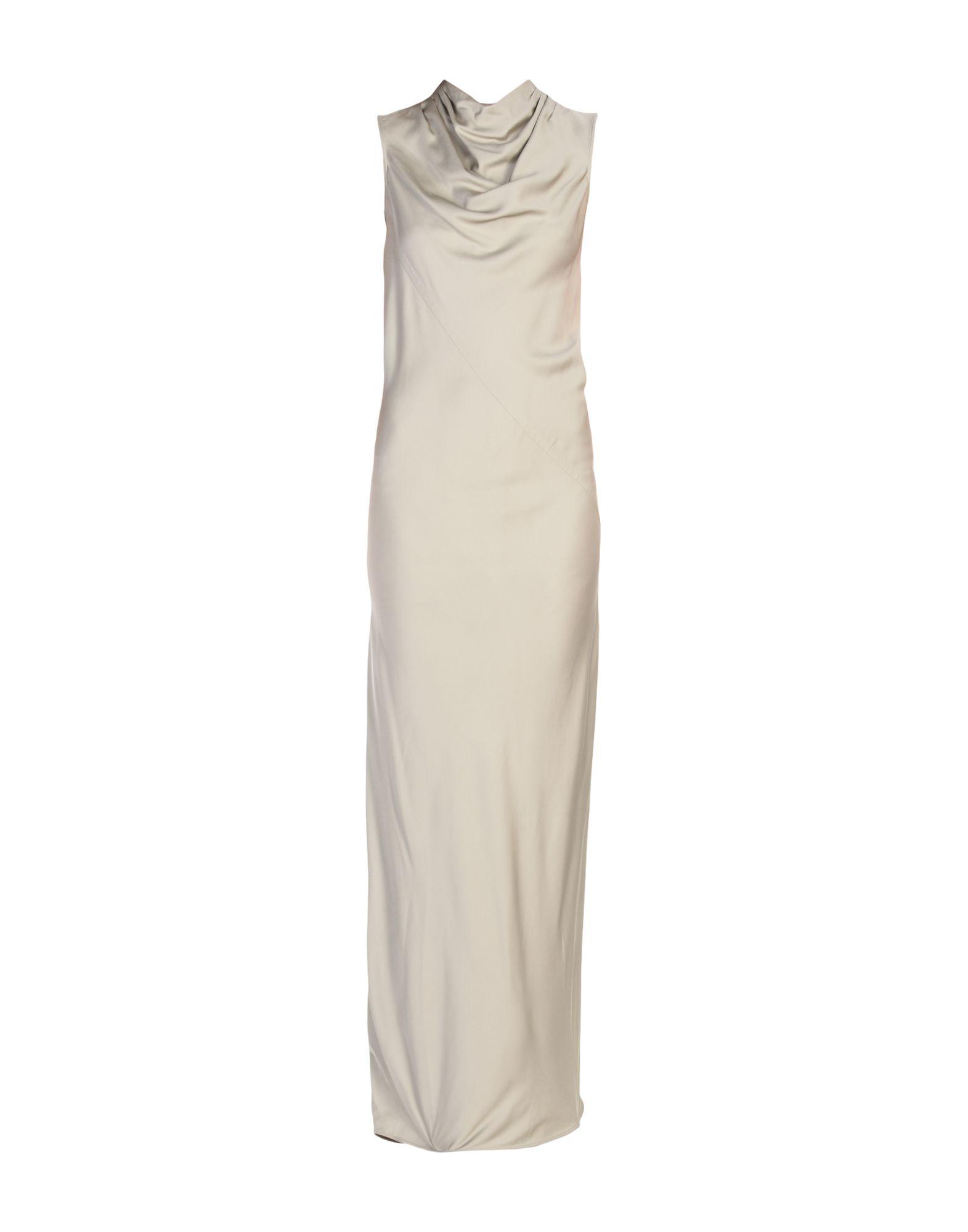 цена RICK OWENS Длинное платье онлайн в 2017 году