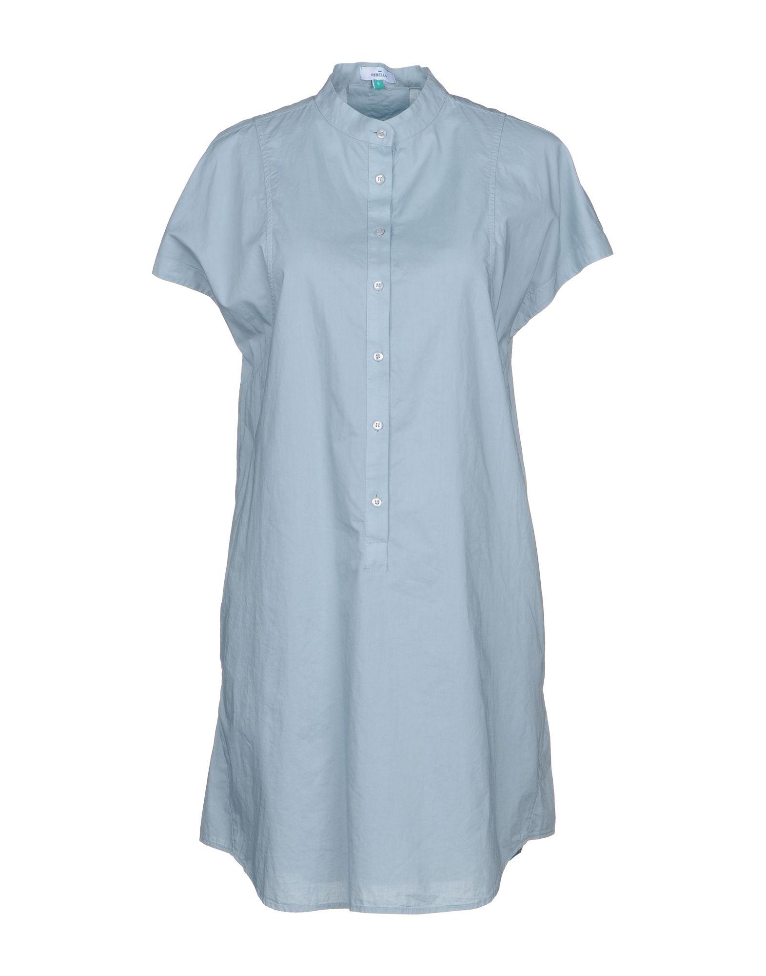 REBELLO Короткое платье платье рубашка fox yulia sway платье рубашка fox