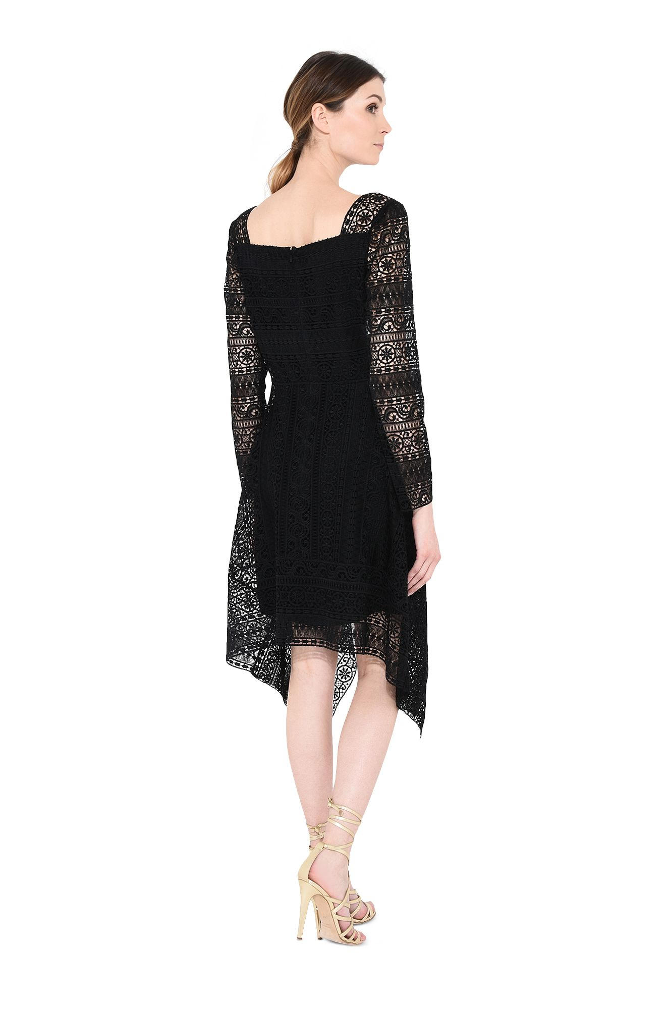 ALBERTA FERRETTI Long Dress D Black cape dress. r