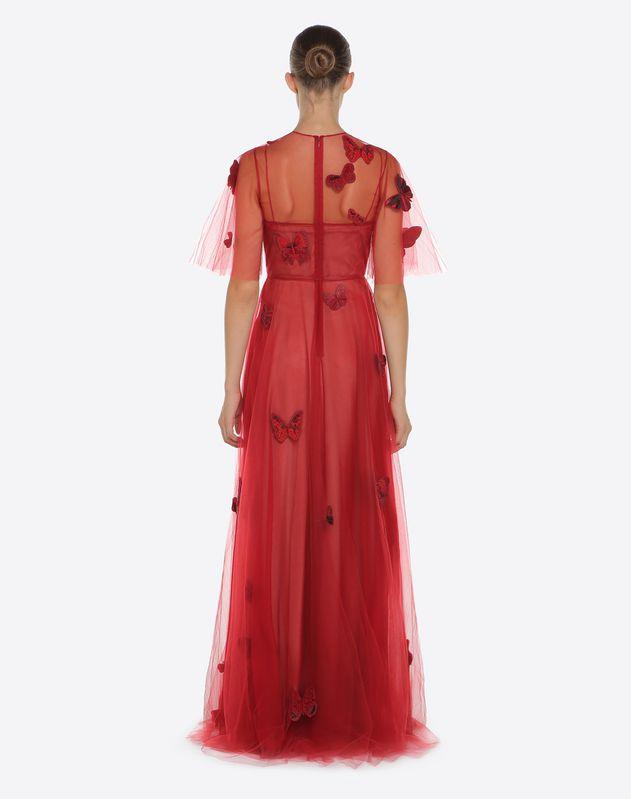 자수 장식 튤 이브닝 드레스