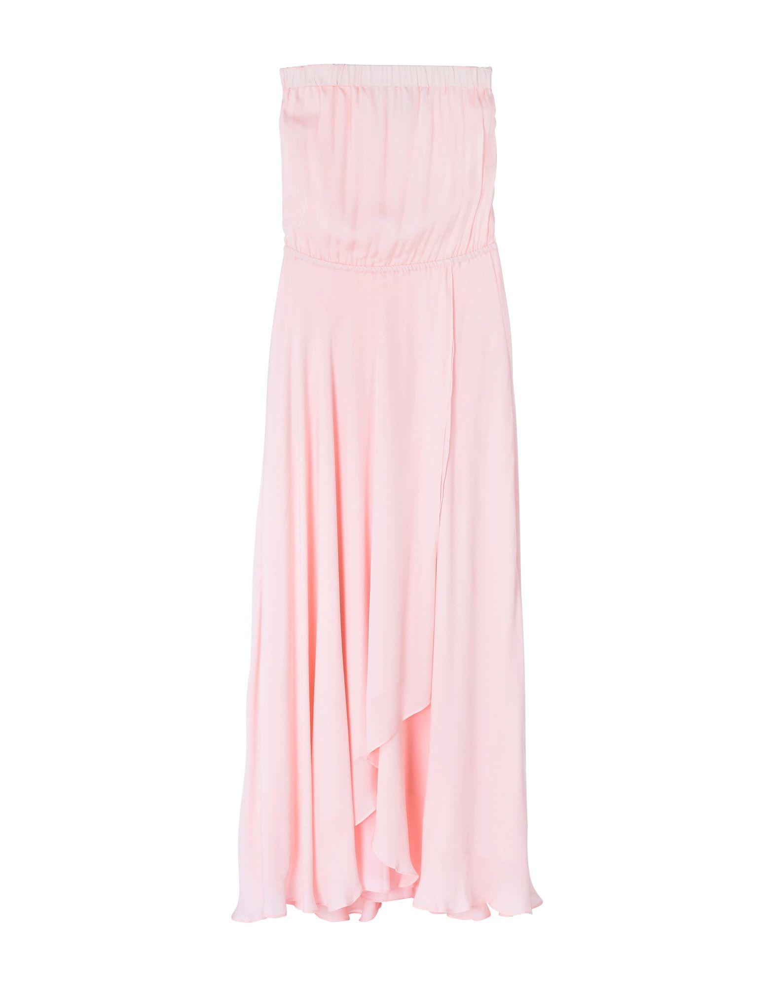 HAUTE HIPPIE Damen Langes Kleid Farbe Hellrosa Größe 5