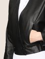 ARMANI EXCHANGE CROPPED LEATHER WRAP JACKET Leather Woman b