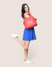 ARMANI EXCHANGE SCALLOP TRIM FIT-AND-FLARE Mini dress Woman a