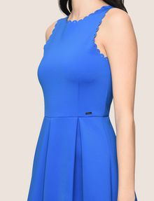 ARMANI EXCHANGE SCALLOP TRIM FIT-AND-FLARE Mini dress Woman b