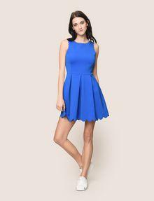 ARMANI EXCHANGE SCALLOP TRIM FIT-AND-FLARE Mini dress Woman d