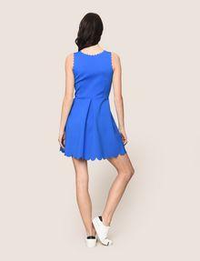 ARMANI EXCHANGE SCALLOP TRIM FIT-AND-FLARE Mini dress Woman e