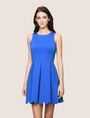 ARMANI EXCHANGE SCALLOP TRIM FIT-AND-FLARE Mini dress Woman f