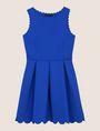 ARMANI EXCHANGE SCALLOP TRIM FIT-AND-FLARE Mini dress Woman r
