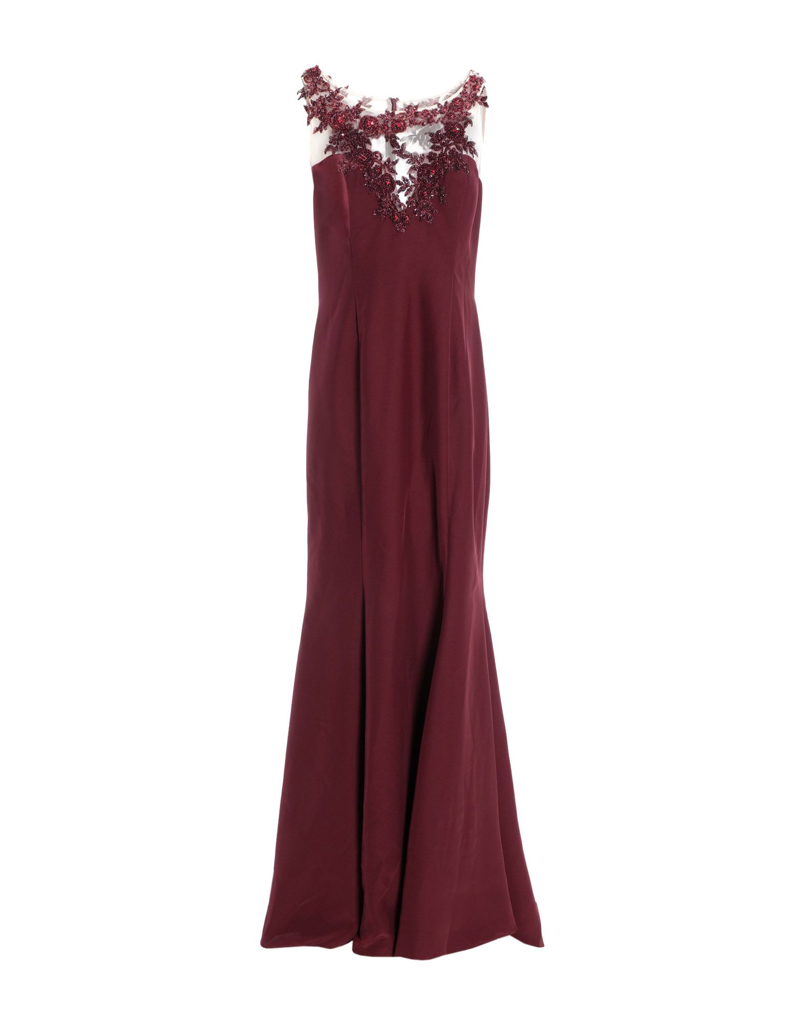 MIKAEL AGHAL Long Dresses in Maroon
