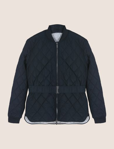 DIAMOND-QUILTED CROPPED PUFFER