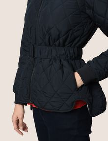 ARMANI EXCHANGE DIAMOND-QUILTED CROPPED PUFFER PUFFER JACKET Woman b