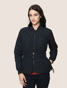 ARMANI EXCHANGE DIAMOND-QUILTED CROPPED PUFFER PUFFER JACKET Woman f