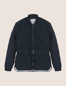 ARMANI EXCHANGE DIAMOND-QUILTED CROPPED PUFFER PUFFER JACKET Woman r