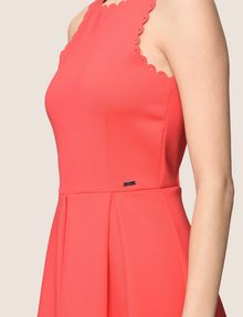 ARMANI EXCHANGE SCALLOP TRIM FIT-AND-FLARE Mini dress Woman b