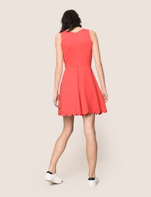 ARMANI EXCHANGE SCALLOP TRIM FIT-AND-FLARE Mini dress Woman e