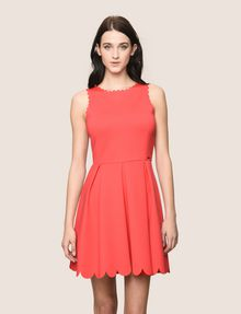 ARMANI EXCHANGE SCALLOP TRIM FIT-AND-FLARE Mini dress Woman f