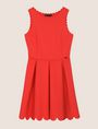 ARMANI EXCHANGE SCALLOP TRIM FIT-AND-FLARE Mini dress Woman r